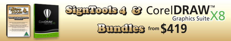 SignTools 4 and CorelDRAW X8 from $419